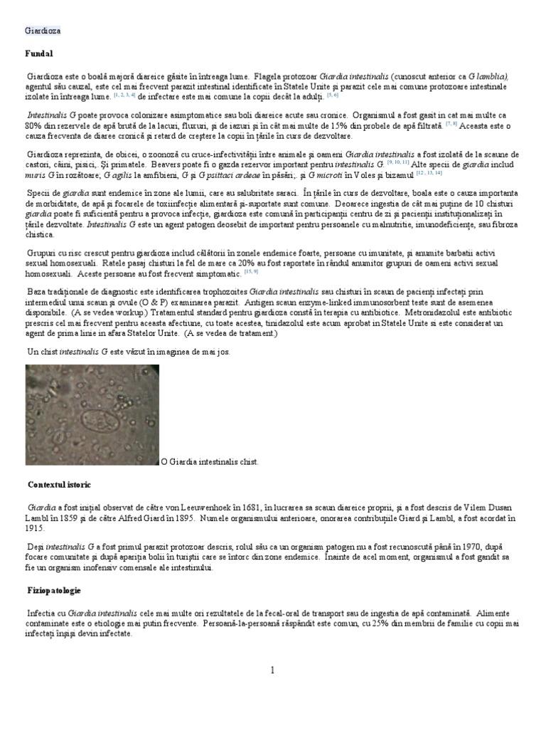 giardia cryptosporidium ag scaun tratamentul viermilor și alergiilor