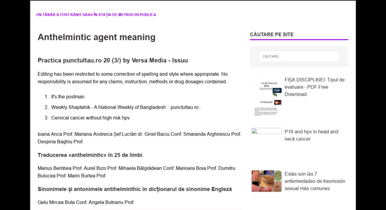 anthelmintic agent meaning