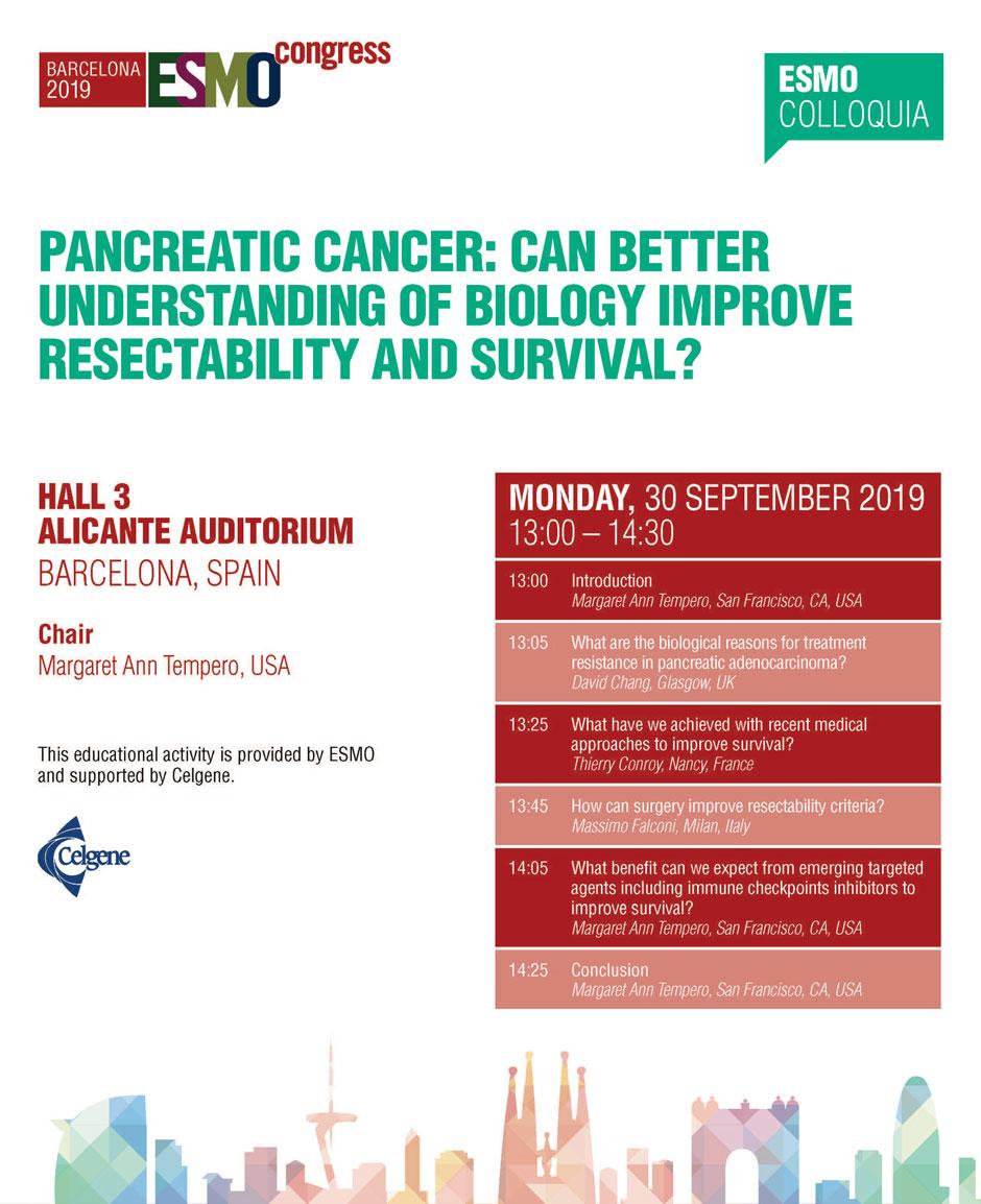Pancreatic cancer esmo guidelines. Pancreatic cancer volunteer