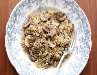 quinoa ciuperci