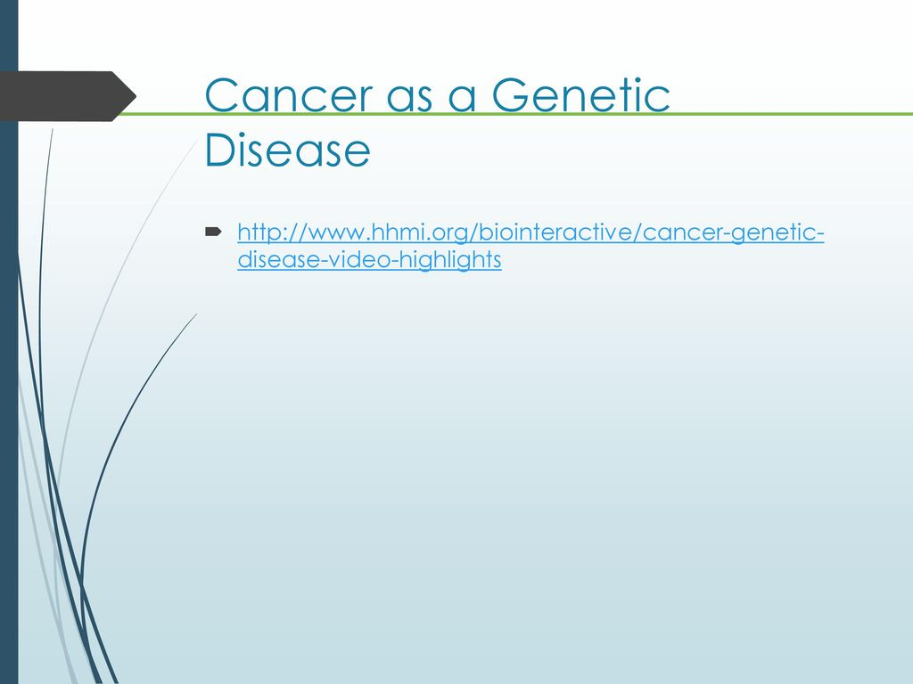 cancer genetic disease highlights parazitii din corpul uman
