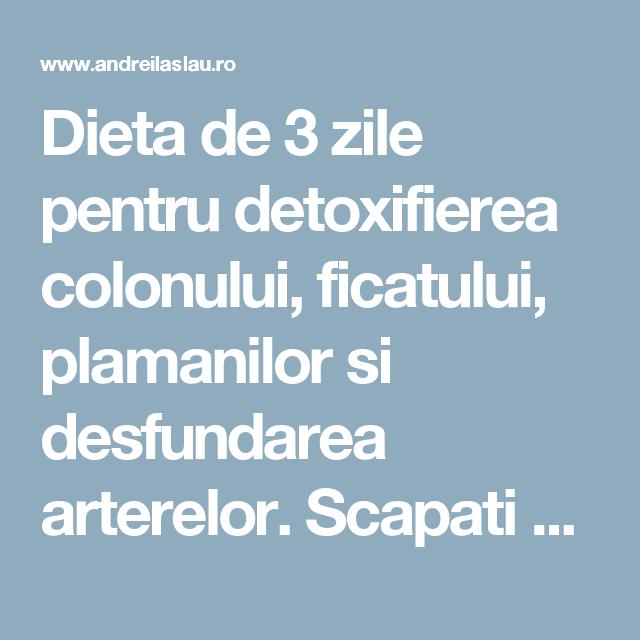 detoxifiere 1 saptamana