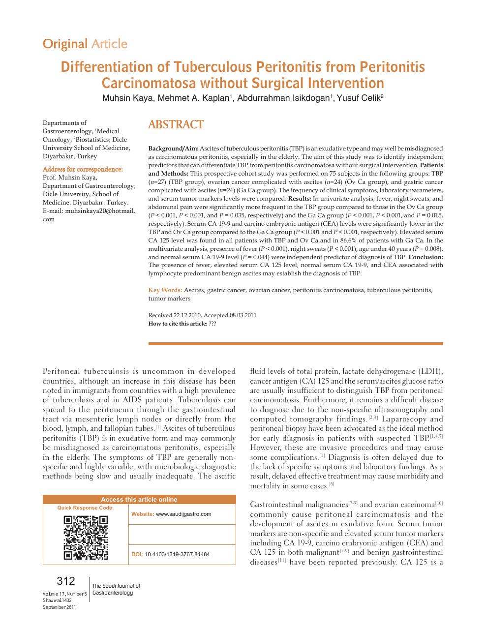 peritoneal cancer tumor markers vaccin papillomavirus enceinte
